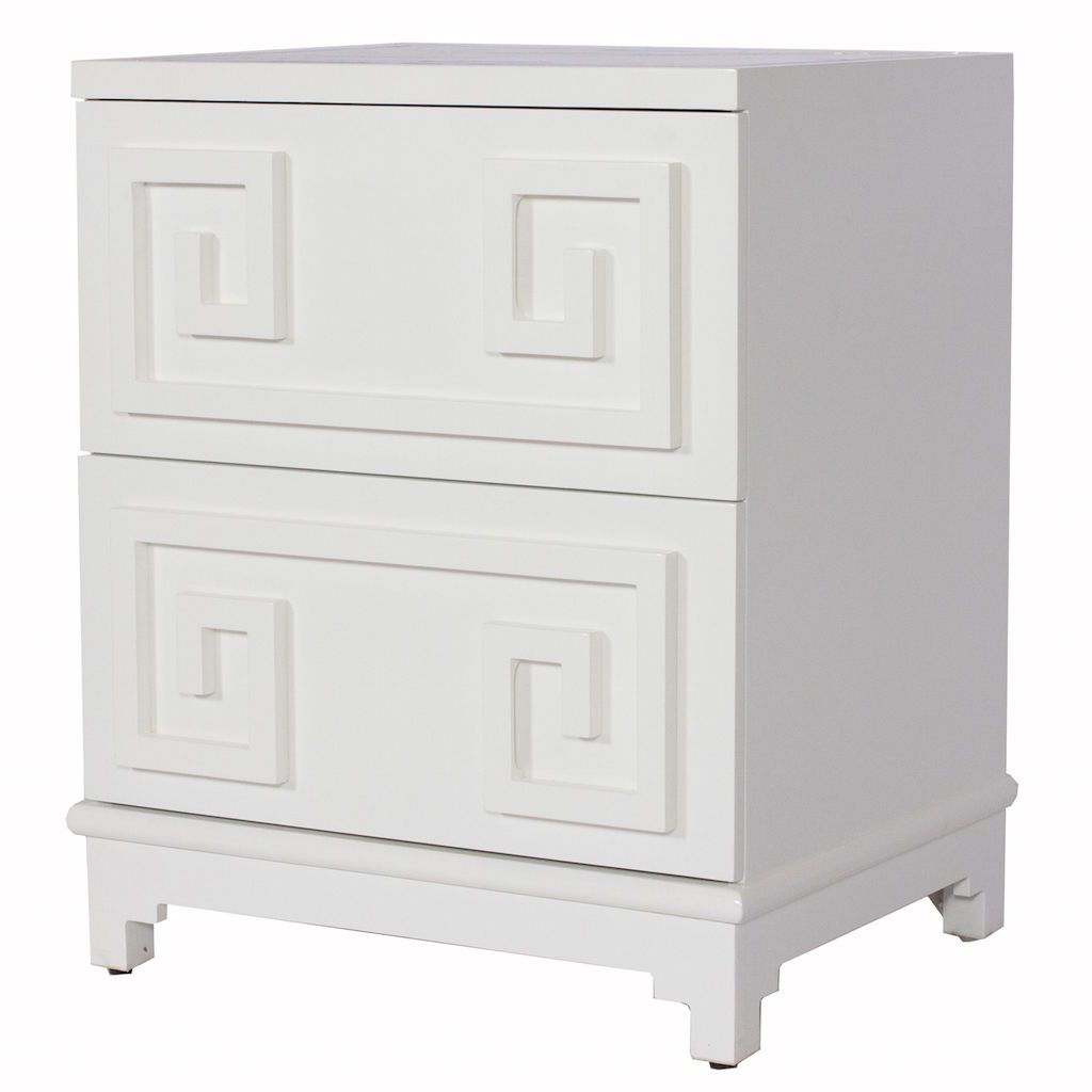 White Pagoda Chest by Worlds Away