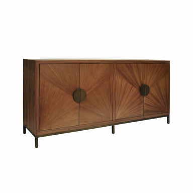 Emory Walnut Cabinet with Bronze Legs & Hardware | Fig Linens