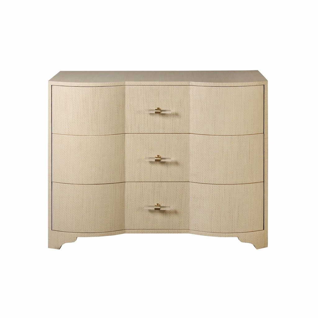 Worlds Away Plymouth Natural Grasscloth Drawer Chest | Fig Linens