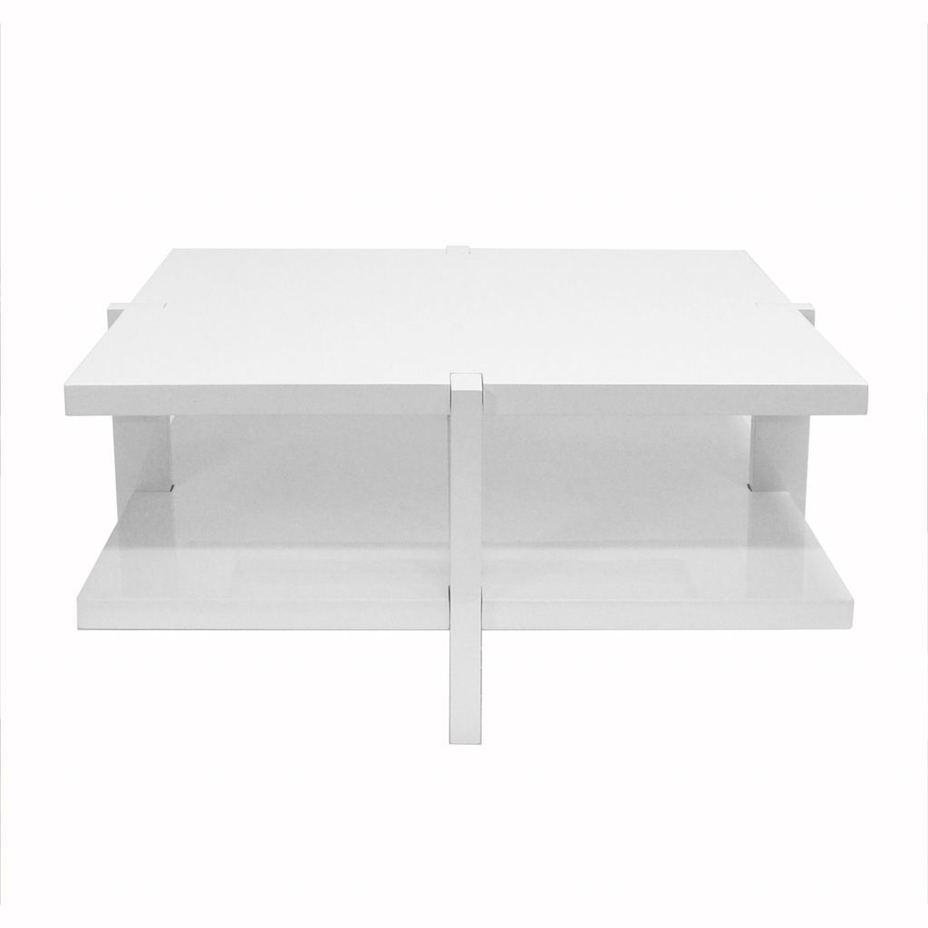 Medford White Square Coffee Table by Worlds Away