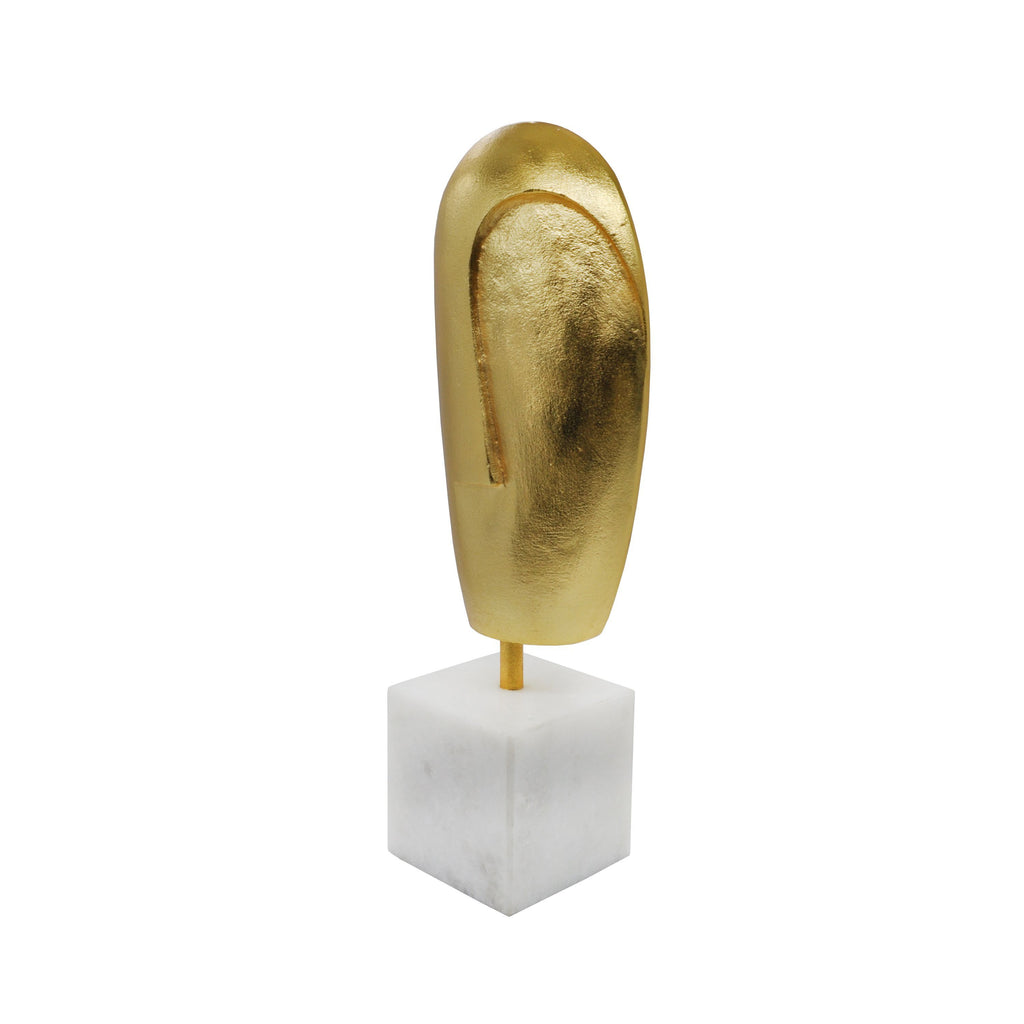 Abbie Gold Abstract Sculpture by Worlds Away| Fig Linens and Home