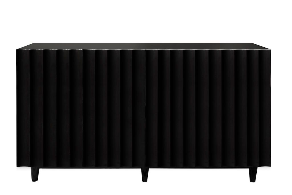 Odette Black Lacquer Cabinet by Worlds Away