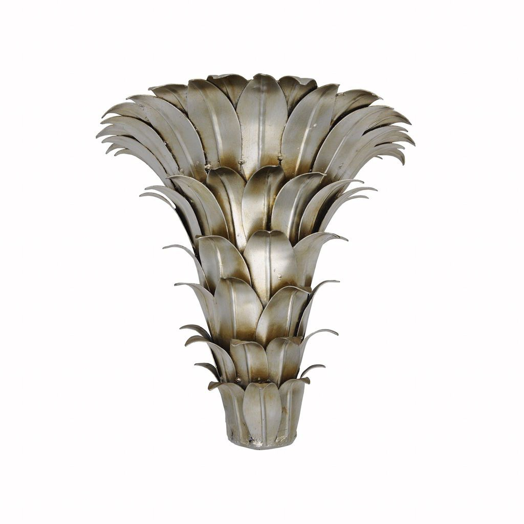 Mariana Silver Leaf Wall Bracket by Worlds Away | Fig Linens