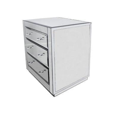 Fig Linens - Alicia 3 Drawer Chest by Worlds Away - Side