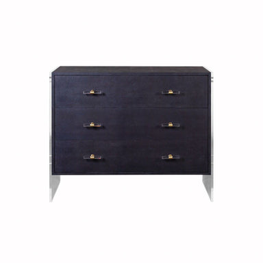 Bowen Faux Navy Shagreen Drawer Chest by Worlds Away | Fig Linens