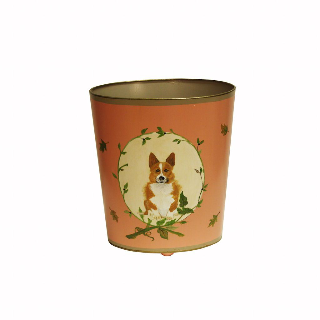 Corgi Wastebasket by Worlds Away | Fig Linens and Home