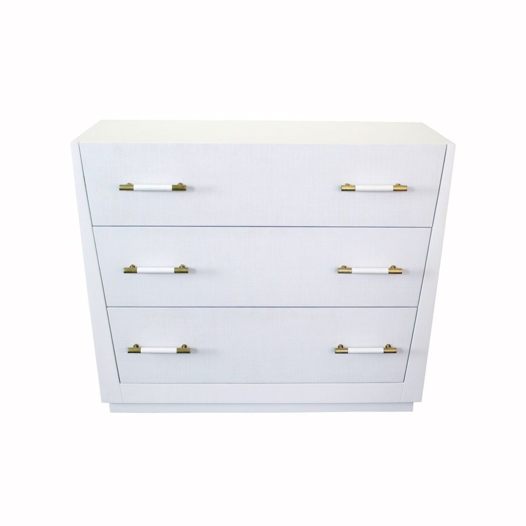 Liam White 3 Drawer Chest by Worlds Away
