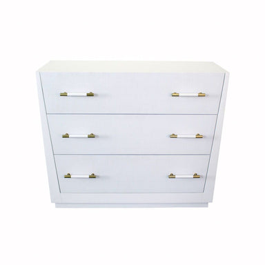 Liam White 3 Drawer Chest by Worlds Away | Fig Linens and Home