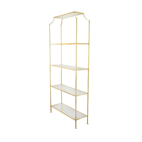 Chloe 5-Shelf Gold Etagere by Worlds Away | Fig Linens and Home