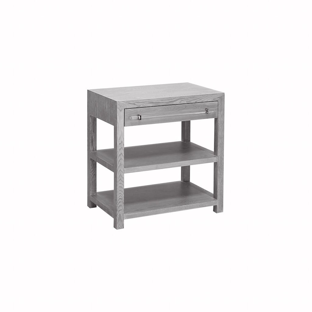 Garbo Grey Side Table by Worlds Away | Fig Linens and Home
