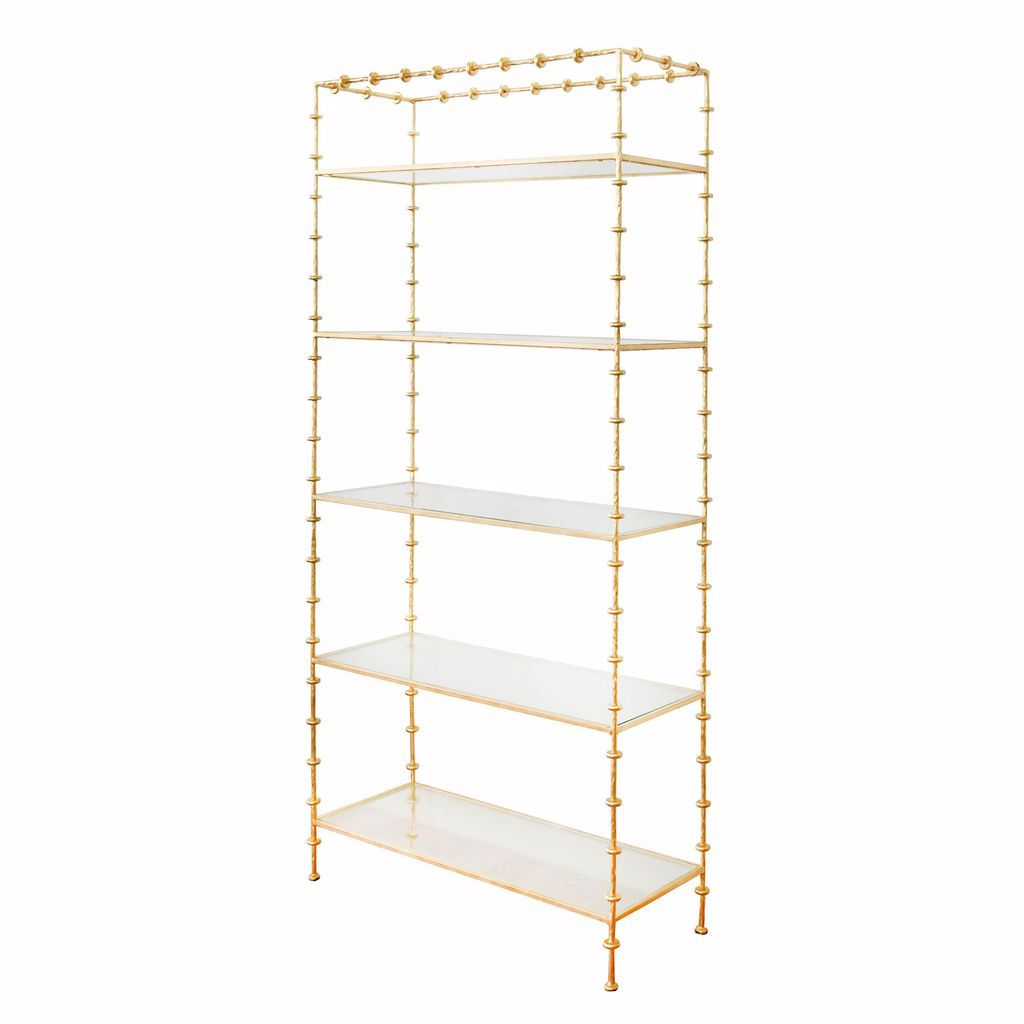 Addie Sculpted Gold Etagere by Worlds Away