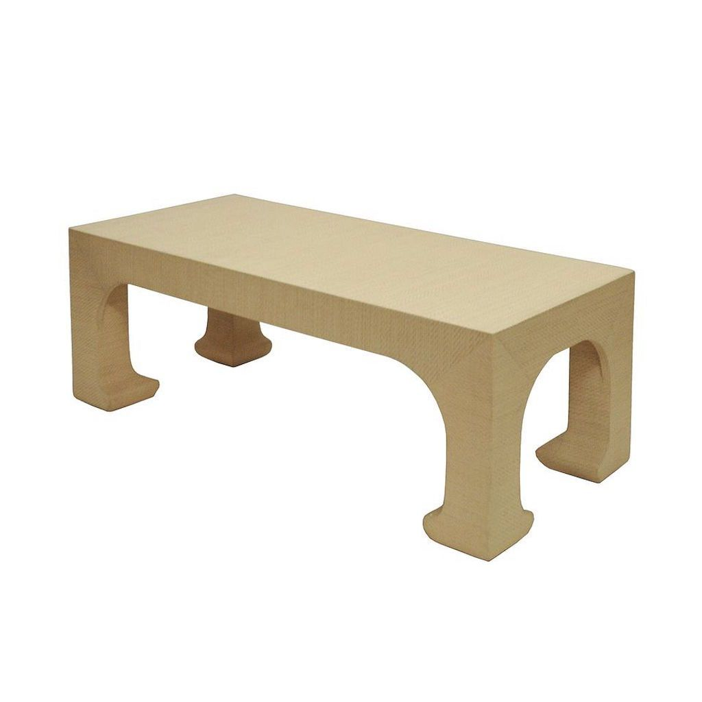 Nicola Natural Grasscloth Coffee Table by Worlds Away | Fig Linens