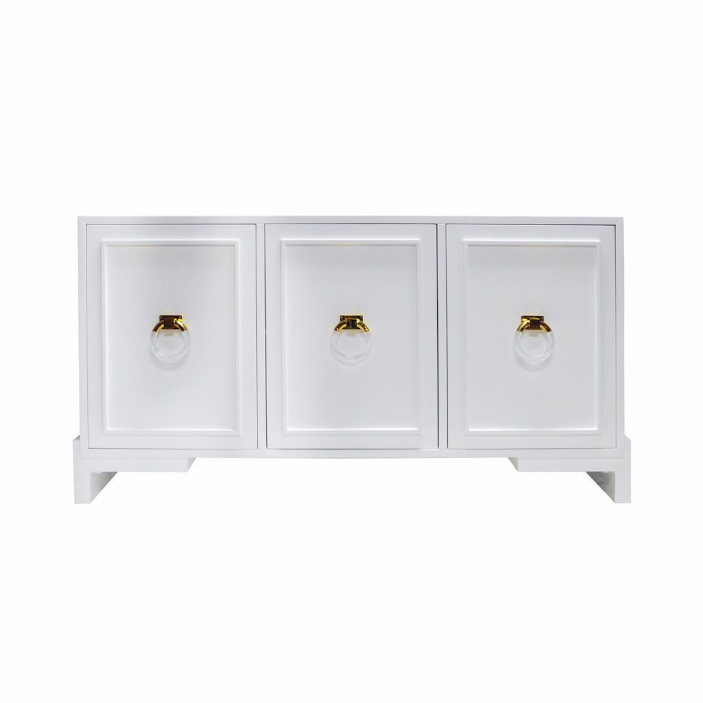 Worlds Away - Lyra White Cabinet | Fig Linens and Home