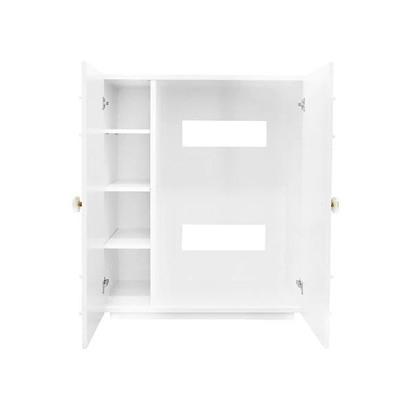 Fig Linens - Judd White 2-Door Cabinet by Worlds Away - Interior