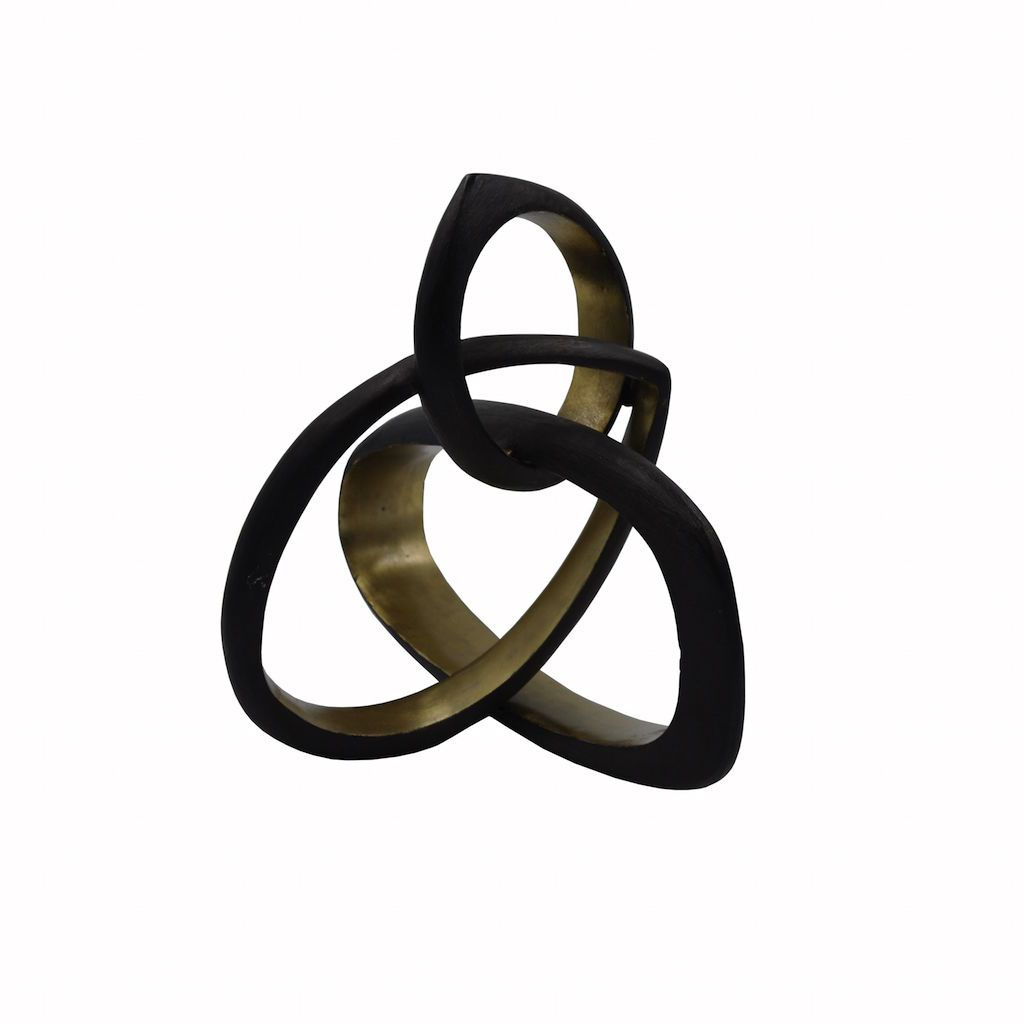 Hitch Abstract Metal Sculpture by Worlds Away