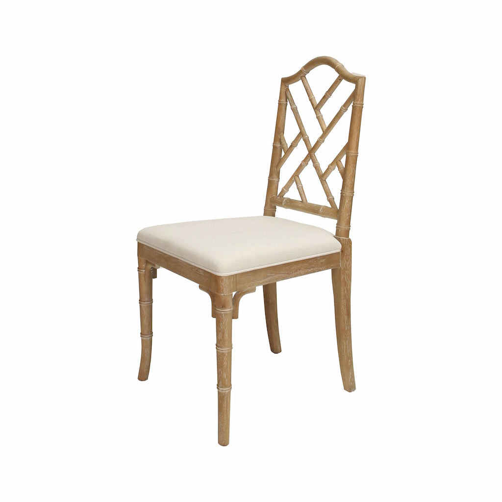 Fairfield Cerused Oak Dining Chair by Worlds Away