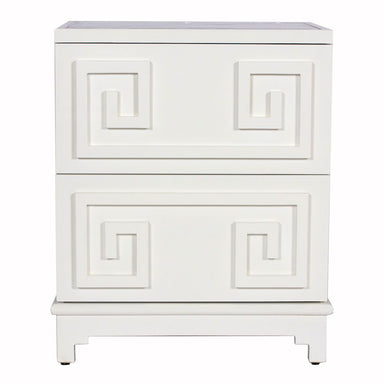 White Pagoda Chest by Worlds Away | Fig Linens and Home