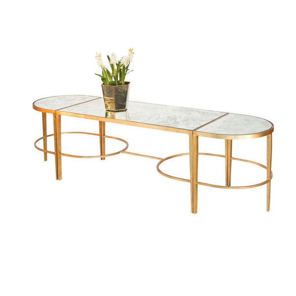 3-Piece Gold Leaf Coffee Table by Worlds Away | Fig Linens