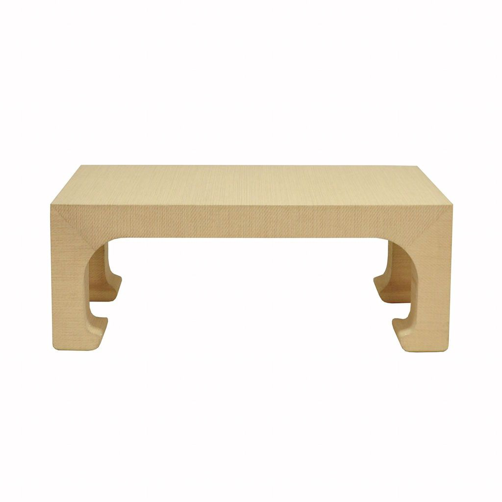 Fig Linens - Worlds Away - Nicola Natural Grasscloth Accent Table by Worlds Away