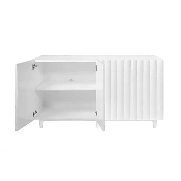 Odette White Cabinet with Interior Shelves by Worlds Away | Fig Linens and Home