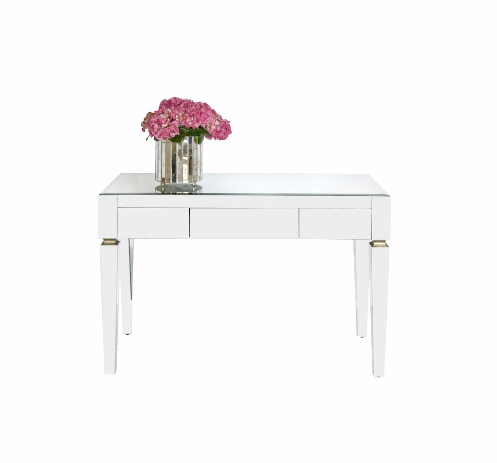 Jacklyn Beveled Mirror Desk by Worlds Away | Fig Linens and Home