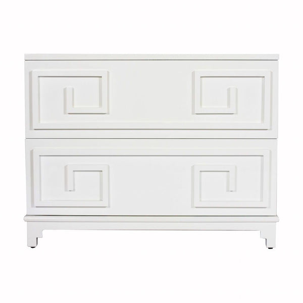 Wrenfield White Drawer Chest by Worlds Away | Fig Linens