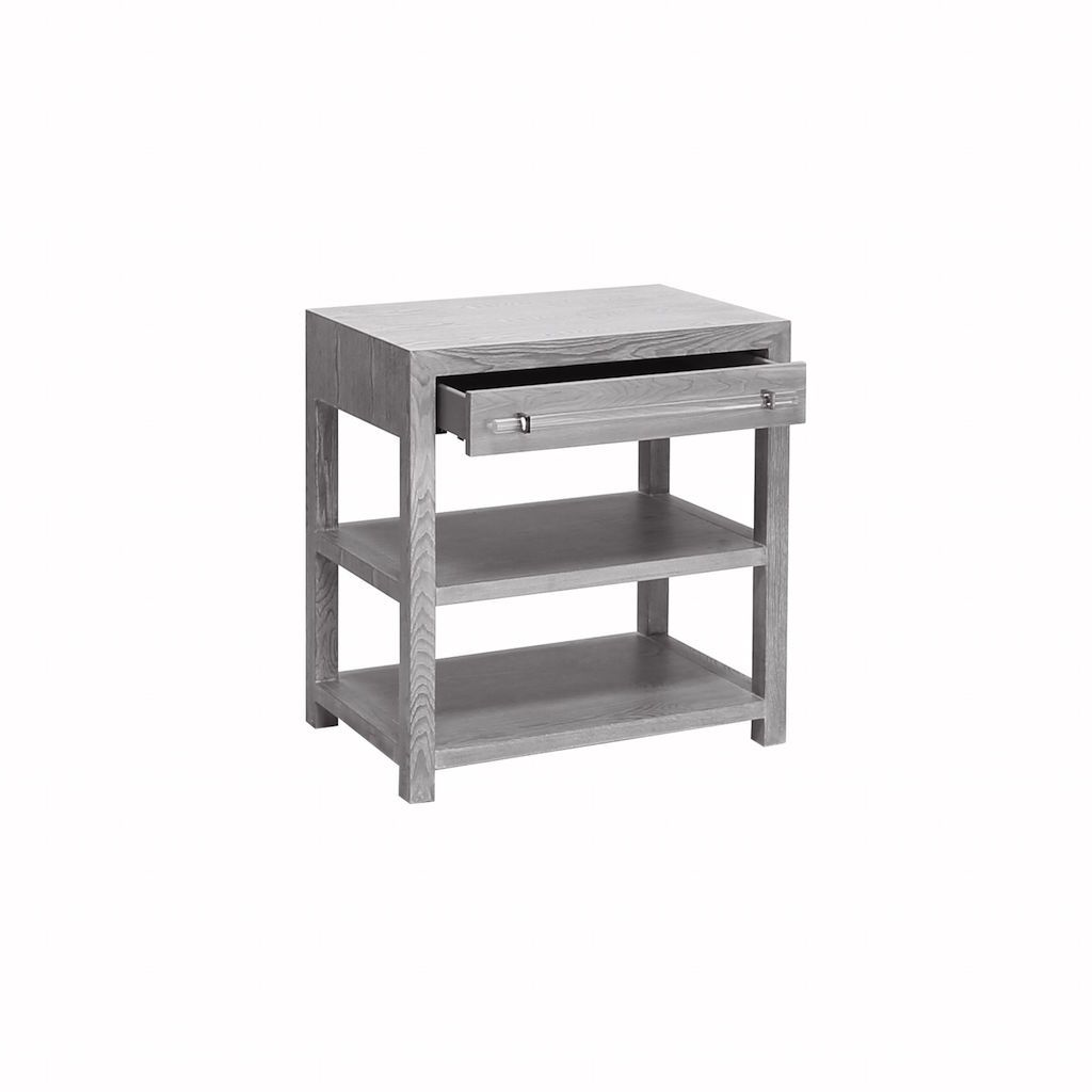 Garbo Grey Night Stand by Worlds Away | Fig Linens and Home