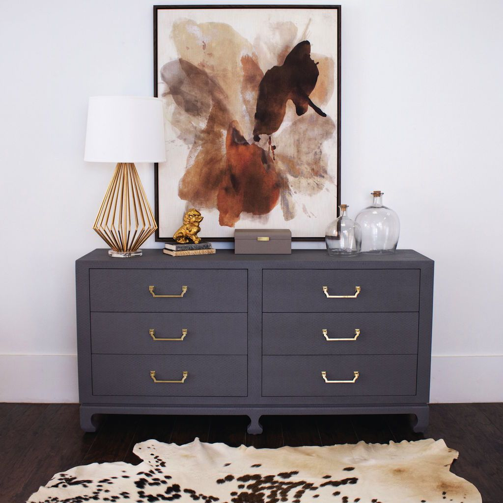 worlds away murray gray drawer chest - lifestyle - fig linens