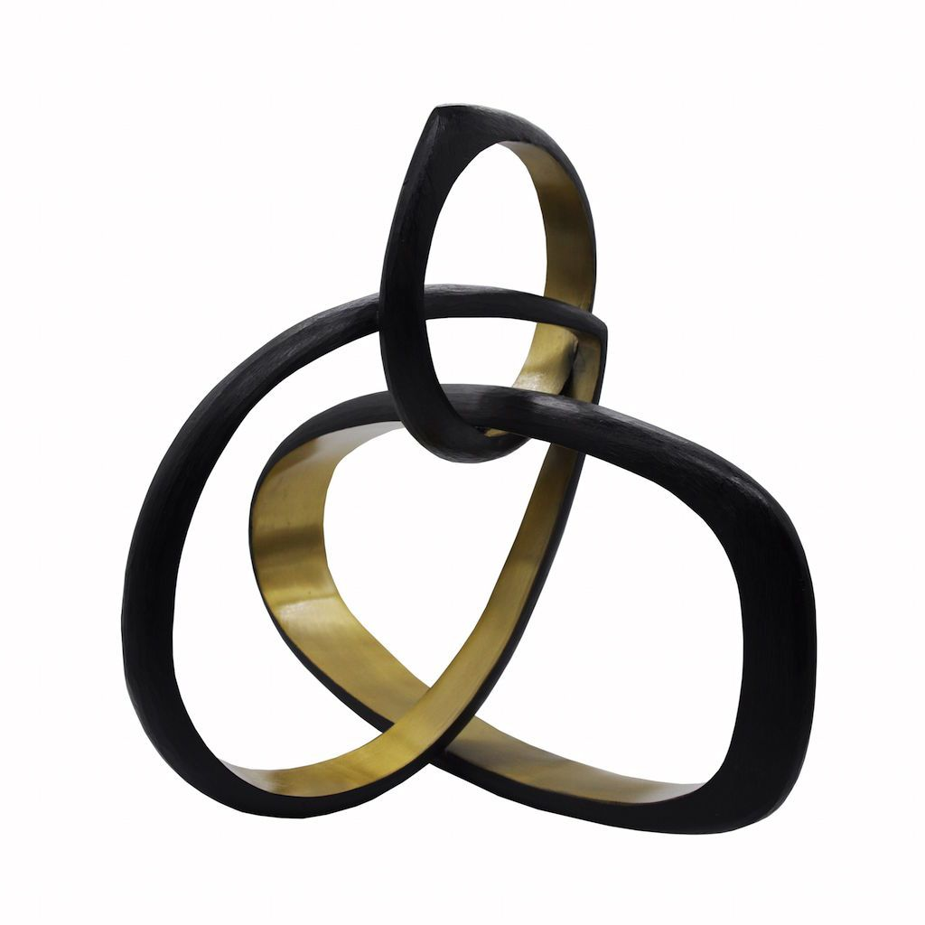Hitch Large Abstract Metal Sculpture by Worlds Away