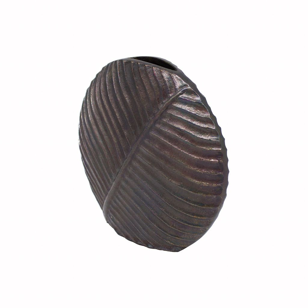 Marty Black Textured Round Vase by Worlds Away
