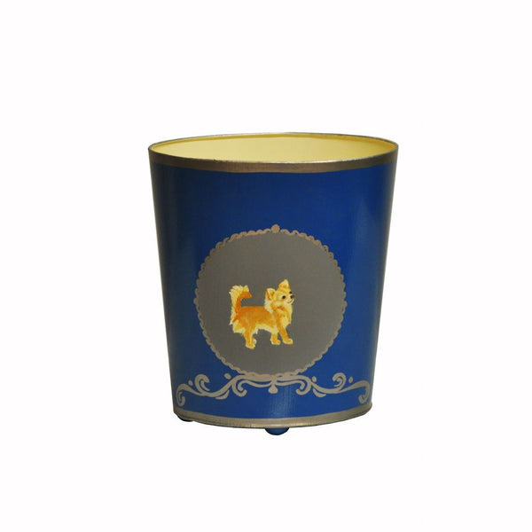 Chihuahua Wastebasket by Worlds Away | Fig Linens and Home