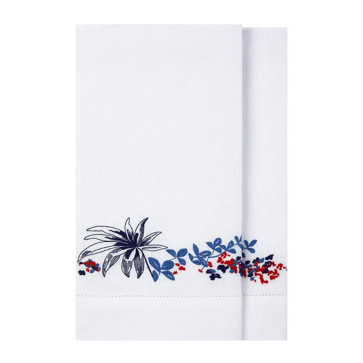 Baie Embroidered Fingertip Towels by Yves Delorme