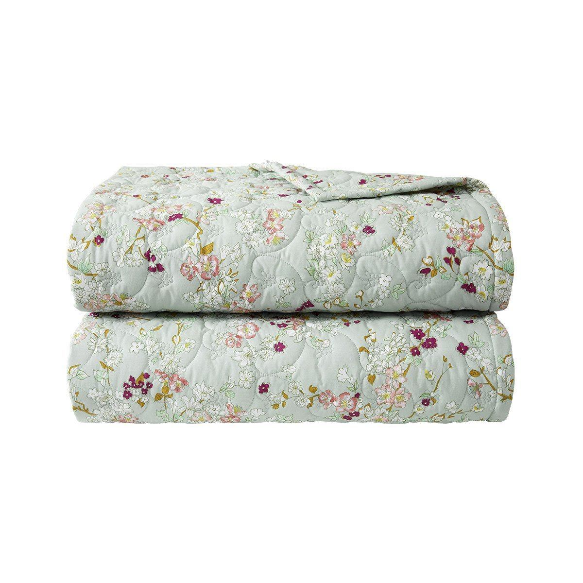 Blossom Quilted Coverlet by Yves Delorme | Fig Linens and Home
