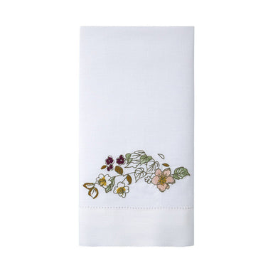 Blossom Embroidered Fingertip Towels by Yves Delorme | Fig Linens and Home