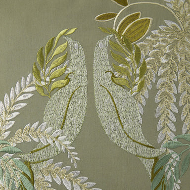 Fig Linens - Complice Decorative Pillow by Yves Delorme - Embroidery details