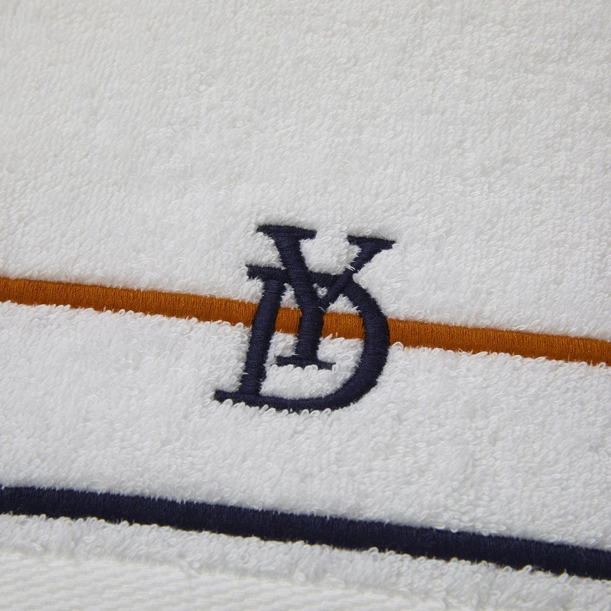 Dyade Embroidered Bath Towels by Yves Delorme | Fig Linens and Home