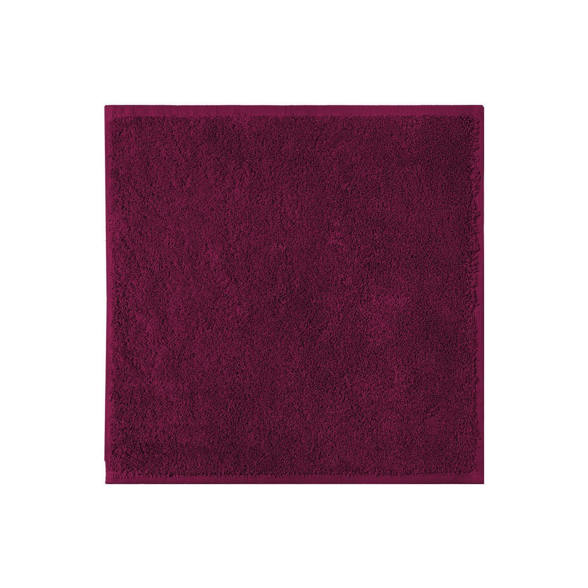Fig Linens - Etoile Cerise Cranberry Washcloth by Yves Delorme