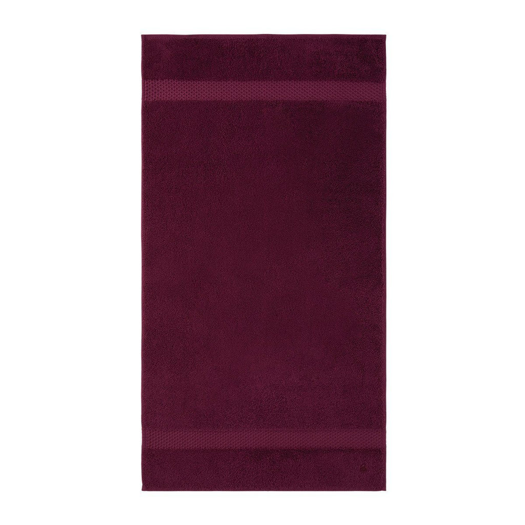 Fig Linens - Etoile Cerise Cranberry Bath Towels by Yves Delorme