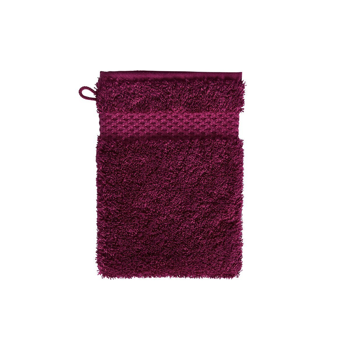 Fig Linens - Etoile Cerise Cranberry Bath Mitt by Yves Delorme