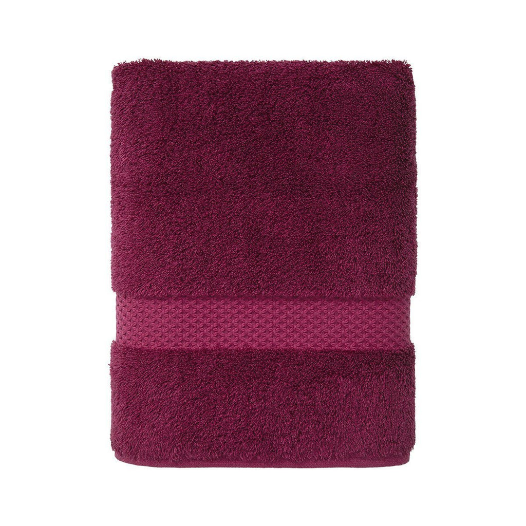 Fig Linens - Etoile Cerise Cranberry Towels by Yves Delorme