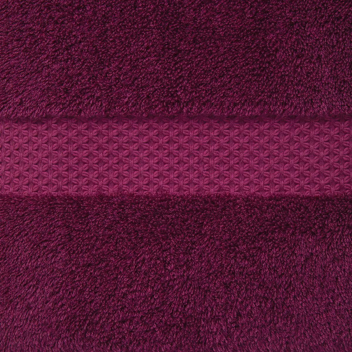 Fig Linens - Etoile Cerise Cranberry Towels with Dobby by Yves Delorme
