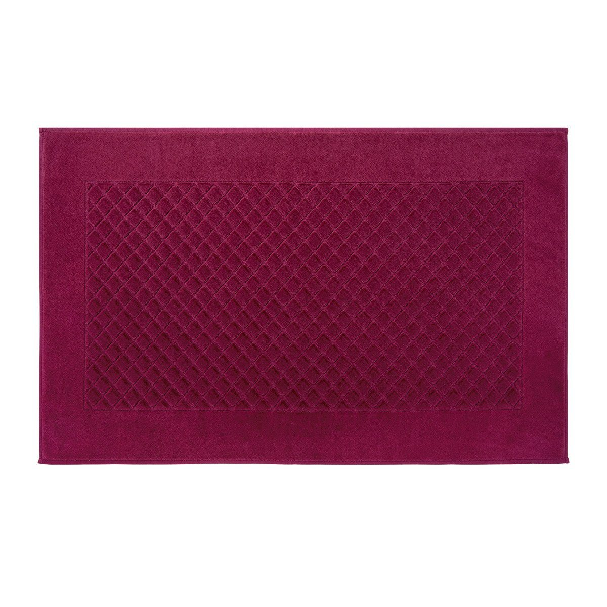 Fig Linens - Etoile Cerise Cranberry Bath Mat by Yves Delorme