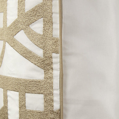 Fig Linens - Initial Decorative Pillow by Yves Delorme - Piping detail