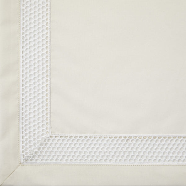 Fig Linens - Yves Delorme - Oriane Nacre Bedding with Openwork Embroidery