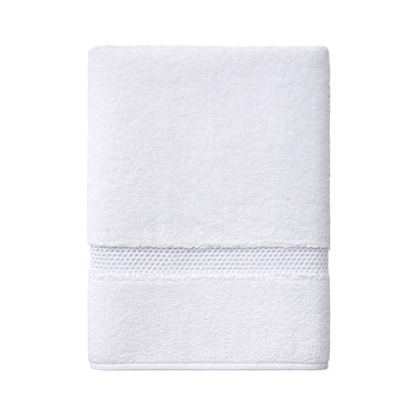 Fig Linens - Yves Delorme Bath Towels - Oriane White Guest Towel