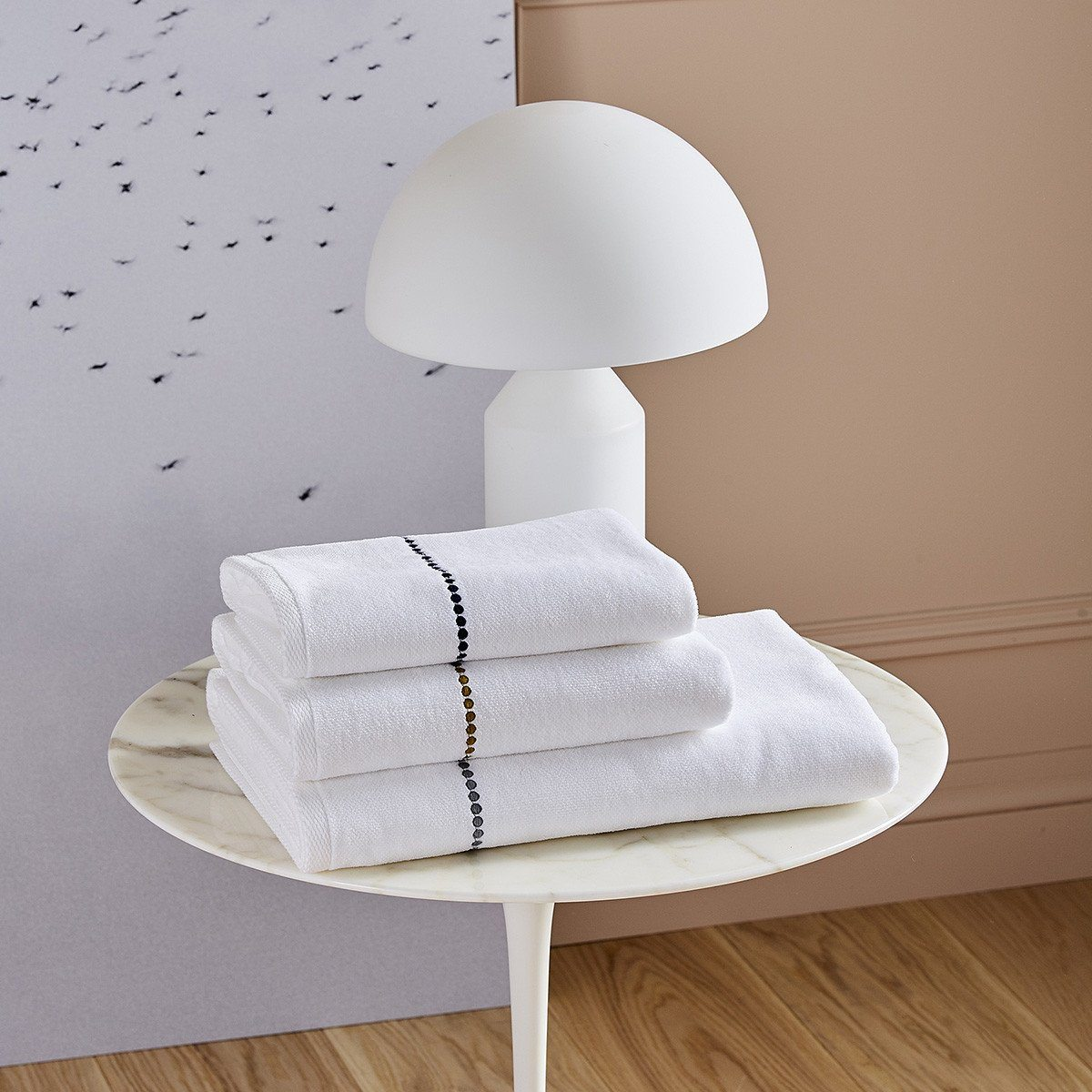 Fig Linens - Victoire Bath Towels by Yves Delorme