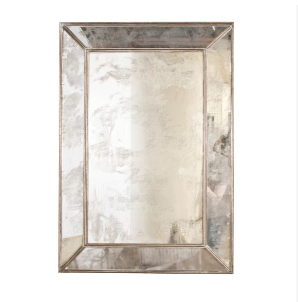 Dion Antique & Silver Leaf Mirror by Worlds Away