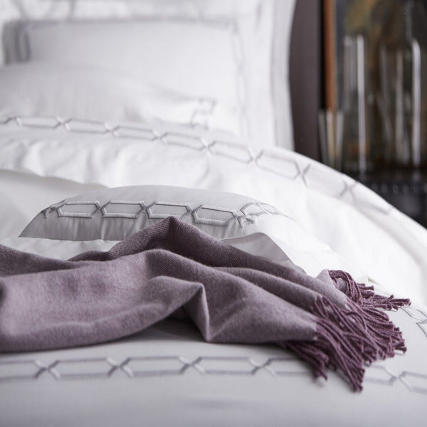 Arezzo White and Shadow Bedding Collection by Scandia Home | Fig Linens