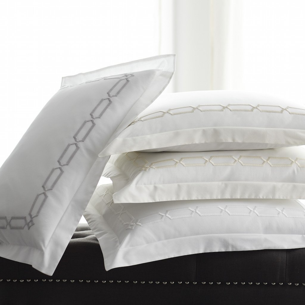 Bedding with Chain Embroidery - Arezzo Bedding Collection by Scandia Home | Fig Linens