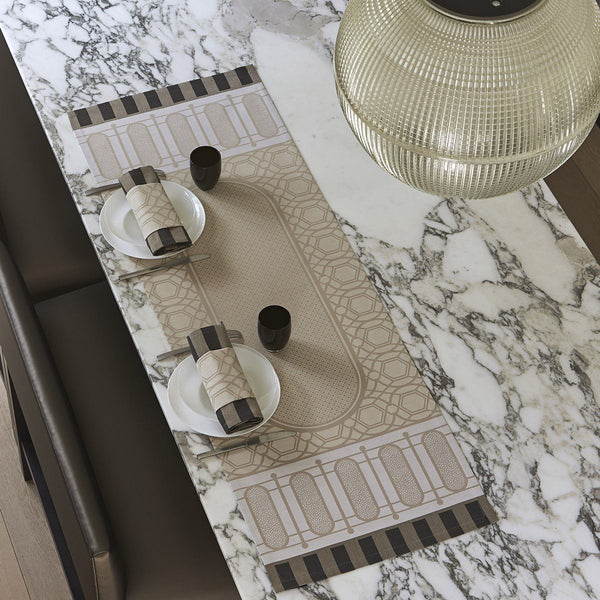 Fig Linens - Le Jacquard Francais - Palais Royal Stone Table Runner